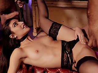 Wild Ffm Orgy With A Petite Teen Slave In Sexy Lingerie