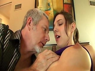 Teen Gets Her Bald Pussy Drilled By An Old Mans Cock