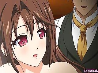 Hentai brunette gets fucked and facialed