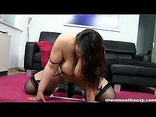 German Pawg Samantha Rides The Black Dong For The First Time
