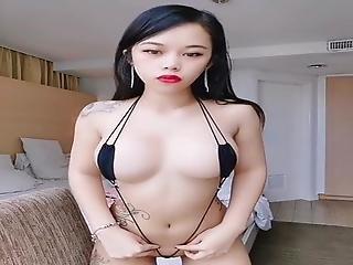Sexy Asian Girl In Micro Bikini (model Friends)