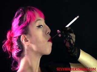 Nadia Cigarette Holder Smoking Fetish