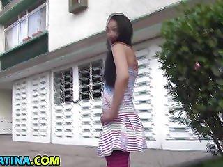 Pov Teen Latina Sprayed