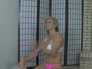 Muscular Woman Wrestling And Tickling A Helpless Guy