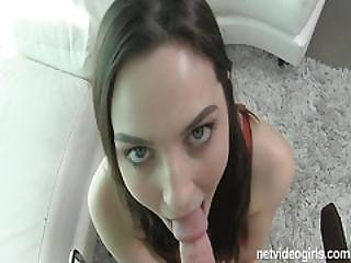 Pepper Is A Sexy Amateur Deepthroat Star Who Shows Up Nervous But Winds Up Throat Deep In Cock