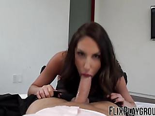 August Pleases Her Hubby With Her Specially Planed Sex Time