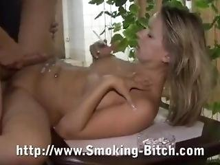 Bitch Smoke While Being Fucked