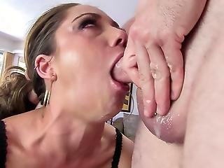 Remy Shows You How Much She Worships Hard Cock In Her Mouth