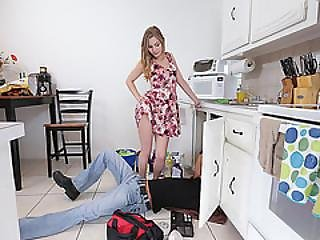 Sydney Gets To Fuck A Very Hot Plumber I The Kitchen