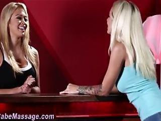 Blonde Lesbian Gets Oral