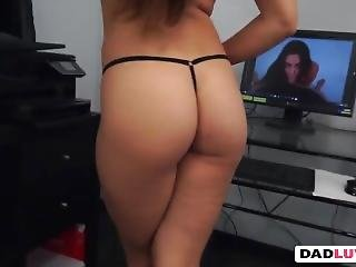 Brunette Teen Cassidy Klein Takes Step Dad Big Dong