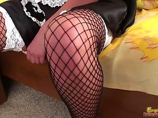 French Maid Masturbates Leaving Submissives Wanting Her