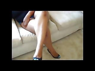 素人, Bbw, 漆黒の, フェティッシュ, 足, 下肢, ナイロン, セクシー