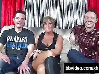 Broche, Foda Dupla, Foder, Alemão, Hardcore, Milf, Cabelo Curto, Foda A Três
