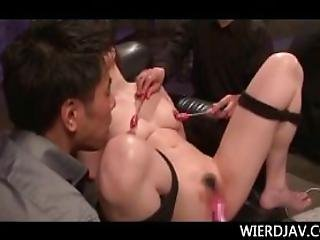 Asian Babes Tortured With Big Vibrators Making Them Squirt
