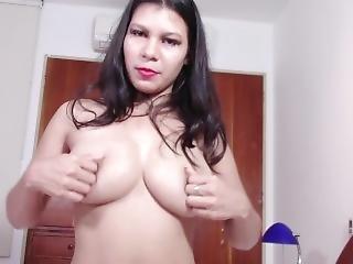 Joi En Espa�ol Tetona Mexicana �riega Mis Tetas!