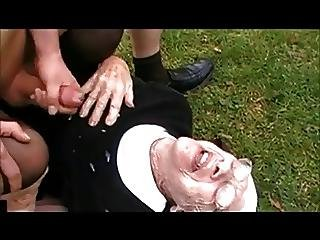 Granny Marge 89 Years Old Fucks And Facial