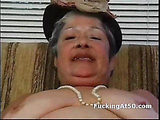 Lascivious Granny Masturbate Untill Cum And Receive Hardcore Screwed By Badass