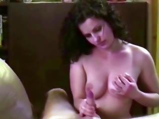 Pretty Mihaela Stripping To Make His Dick Hard For Blowjob