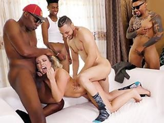 Carmen Valentina Interracial Gangbang