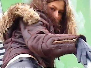 Self Pleasure Orgasm Using Her Finest Old Soft Leather Gloves