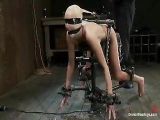 Tape Gagged And Machine Fucked