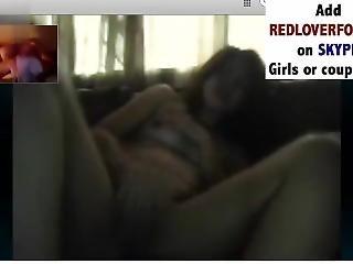 Hot Indian Girl Cumming On Cam2cam Skype Watching Nice Cock- Redloverforyou