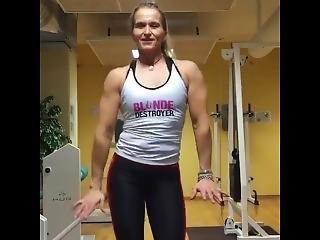 Female Muscle Posing