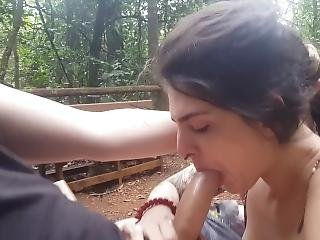 Oral And Facial In A Public Park - Almost Get Caught - Dread Hot