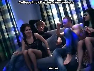 Hard anal sex with Cum shot at the party