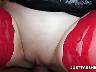 Stockinged Amateur Fucked Till She Gets All Wet
