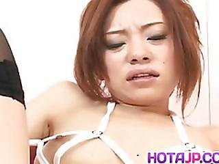 Reina Yoshii On Heels Gets Shlong In Mouth And In Hairy Hot Box
