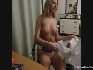 Ongeloofelijk, Blonde, Vingeren, Sexy, Tiener, Webcam