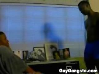 Black Gay Dude On Deep Throat Blowjob