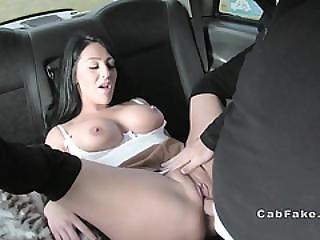 Huge Boobs Babe Sucks Taxi Drivers Balls