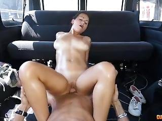 Sexy Tanned Chick Gets Fucked On Bangbus