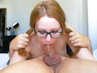 Nerdy College Teen 69 Facefucked Till Facial
