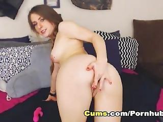 Hot College Babe Solo Pussy Masturbation