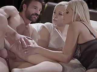 Blonde Petite Teen Banged By A Stepdad In A Threesome