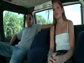 Amateur Riding The Sex Bus For Good Fuck