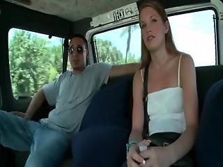 Amateur Riding The Sex Bus For Good Fuck