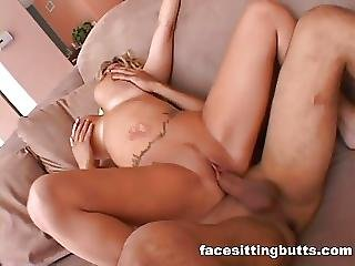 Experienced Milf With A Huge Pair Of Tits Fucks Young Stud