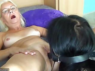 Oldnanny Senior Mature And Teen Lesbian