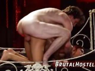 Real amateur bdsm xxx wife threesome first
