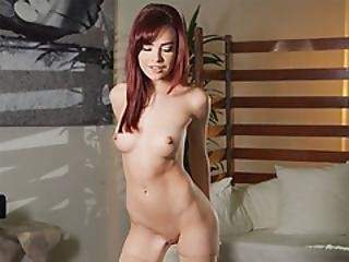 Sexy Redhead Petite Teen Solo Dancing And Striptease