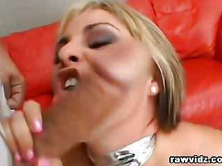 Blonde Nympho Slut Gets Dominated Rough Dp Fuck