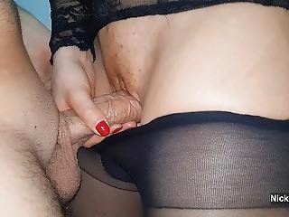 Cumming In My Black Pantyhose And Pull Them Up - Nicky Mist 4k