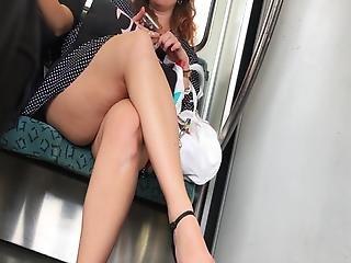 Public Chubby Milf With Hot Legs In Ultra Short Dress