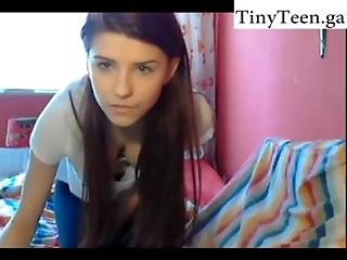 Cutie Makes A Show In Her Room - Self Shot Website Tinyteen.club