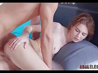 Slow Anal With Brunette Beauty